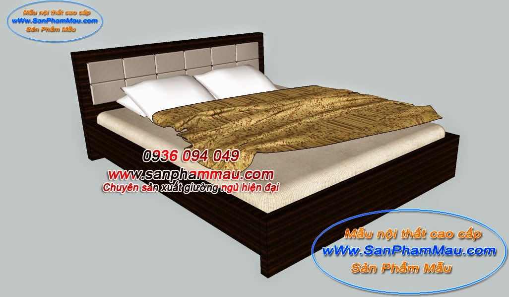 Giường ngủ gỗ MDF veneer