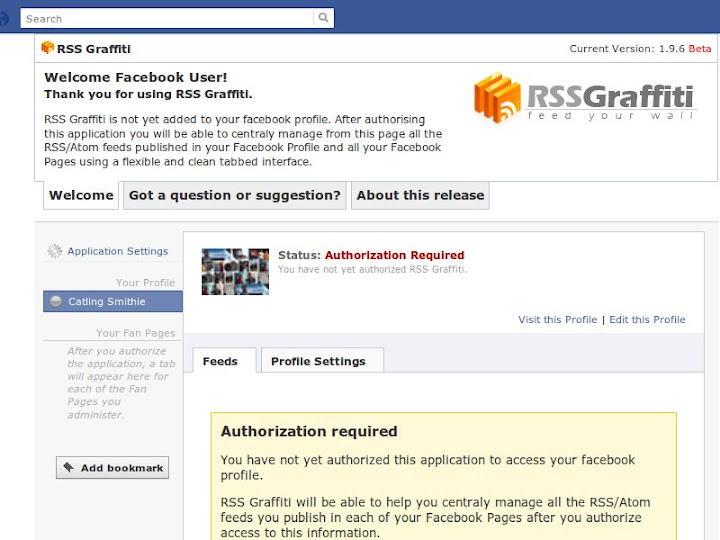 How-to: Add RSS Feeds to Facebook using RSS Grafitti