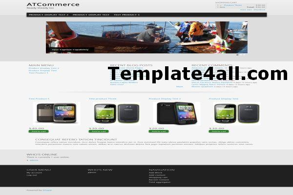 clean ecommerce drupal 7 theme template