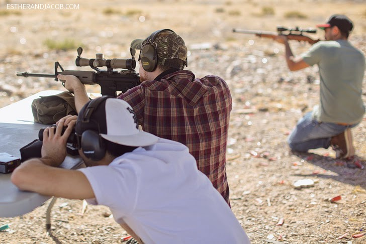 Outdoor Las Vegas Shooting Range.
