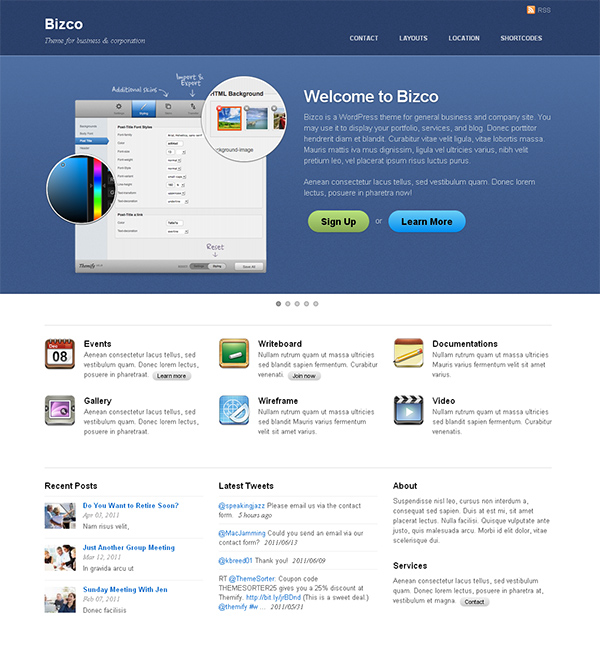 Bizco Flexible WordPress Theme