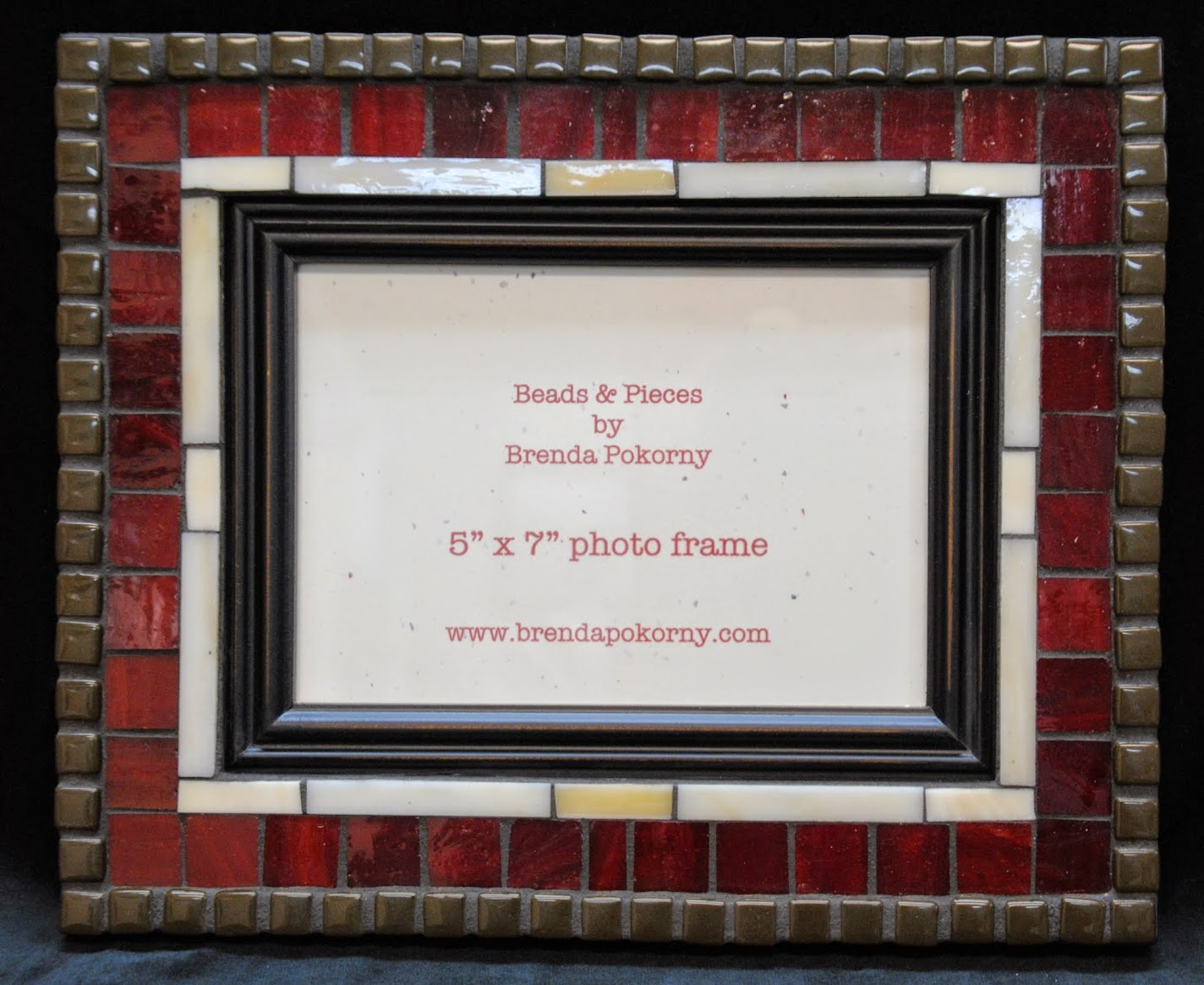Mosaic Photo Frames in Red Tones