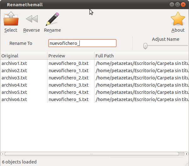 Renombrar archivos Linux