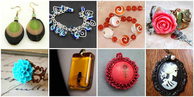 Handmade Resin Jewelry Designs