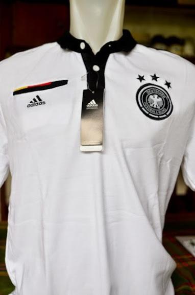 Jual Kaos Polo Jerman Putih 2014