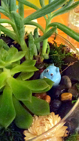 Nodoguro PDX September 2014, theme dinner Totoro. The tablescape had lots of Totoros peeking at the guest diners