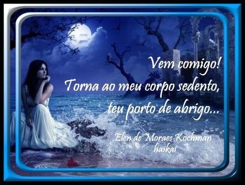 A ESPERA - poema e haikai - Elen de Moraes Kochman