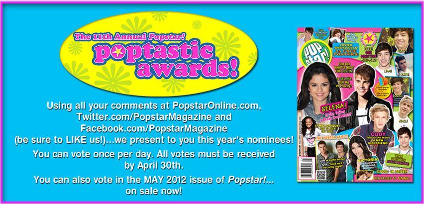 VOTE: 11th Annual Popstar! Poptastic Awards Poptastic