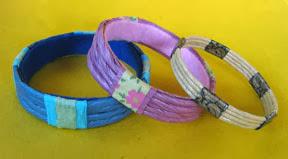 paper twine bangles photo