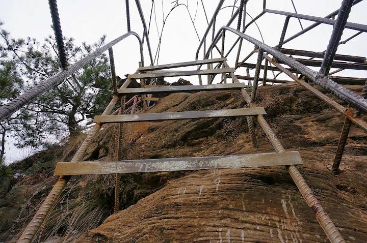 Escaleras hasta el mirador de Tianbo Mansion