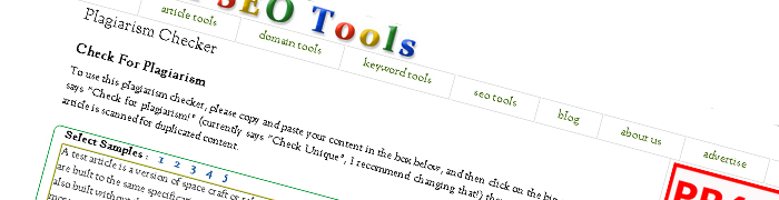 Post image for Check for Plagiarism with Small SEO Tools Plagiarism Checker
