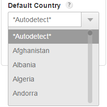 complex address field for form