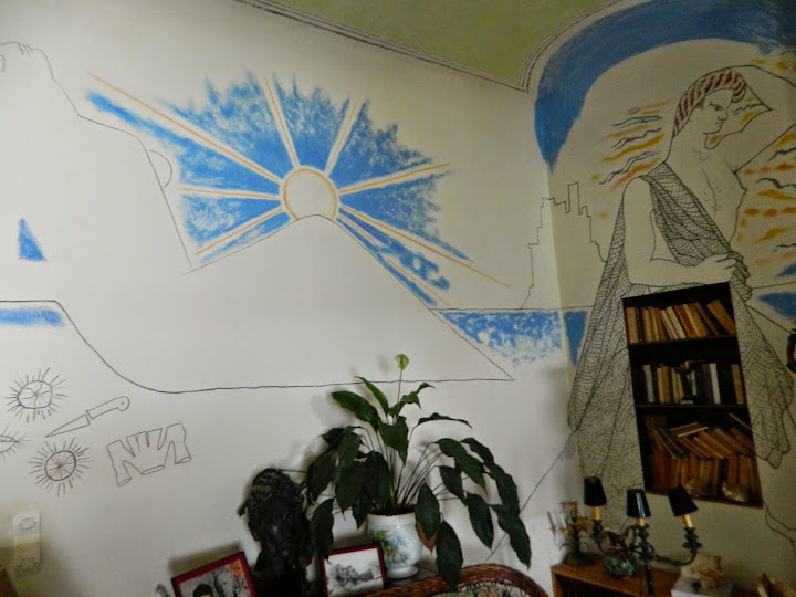 Jean Cocteau's walls at Villa Sando Sospir. From 100 Places in France Every Woman Should Go