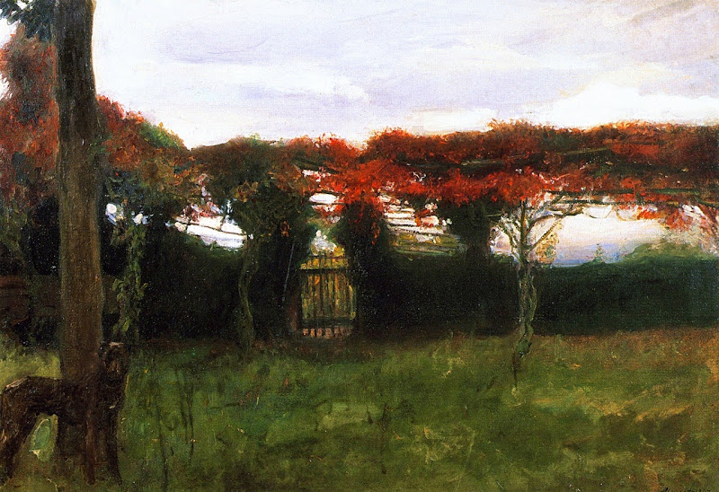 Max Slevogt - Red Arbor with Dog, 1897