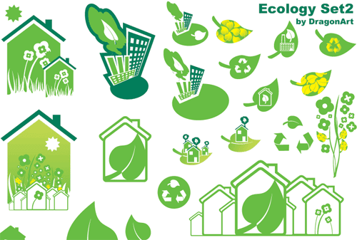 25 Free Ecology Green Vector Icons Set