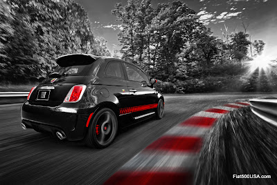 US Fiat 500 Abarth on the race track