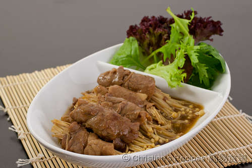 Beef and Enokitake in Teriyaki Sauce02