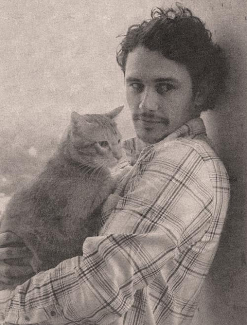 James Franco and a cat