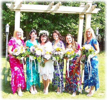 Tie Dyed Wedding Dresses
