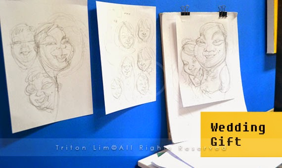 Wedding Gift Ideas Malaysia : Wedding Gift Caricature for Melaka couple