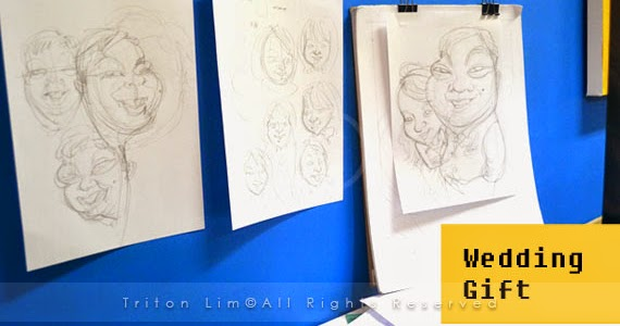 Wedding Gift For Bride Malaysia : Caricature Artist Malaysia Triton Lim: Wedding Gift Caricature for ...