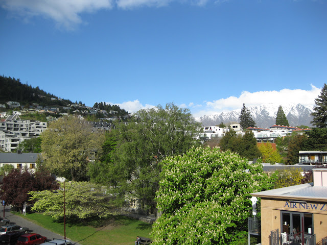View from our twin ensuite room onto Queenstown