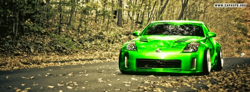 Capas para Facebook Carro Nissan Verde