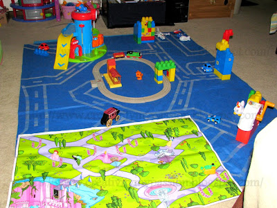 Masking Tape Road Play mat