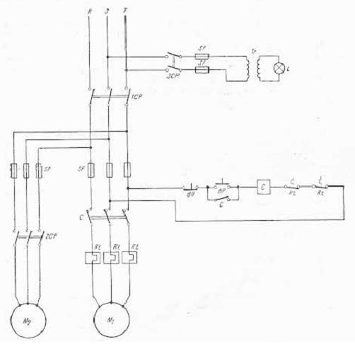 schema electrica a strungului normal S3