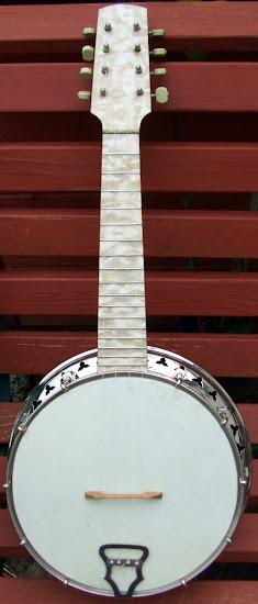 George Houghton Ivory Queen perloid Banjo Mandolin