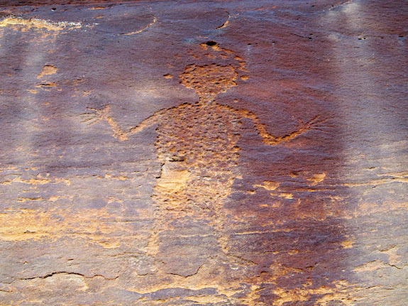 Human figure with halo