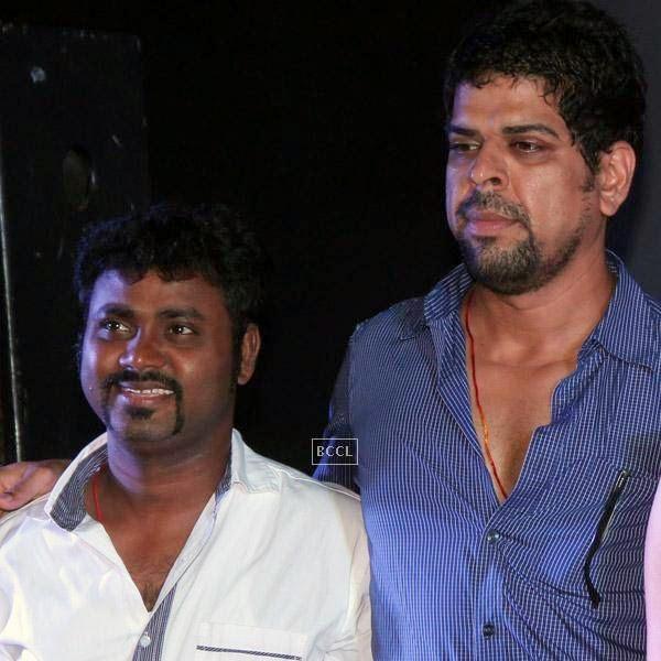Writer Aaryaan Saxena and Murali Sharma on the sets of movie Desi Kattey.