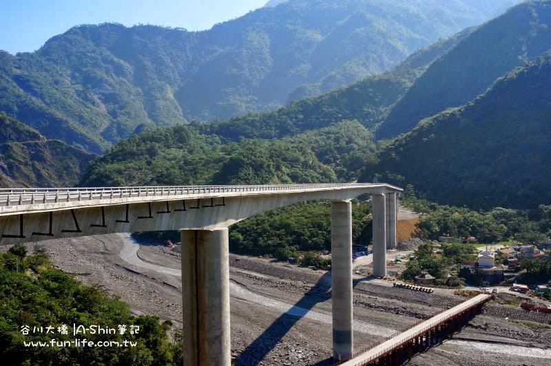 99公尺高度很驚人,這也難怪谷川大橋為全國第一高陸橋