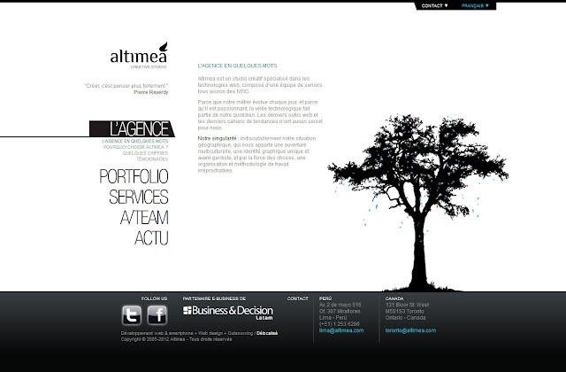 *科技感十足的「翼」Web Design|Agence Web Site 3