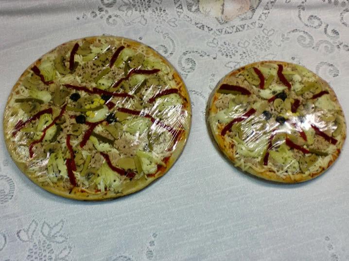 El Racó del Berguedà: Pizza gran i petita