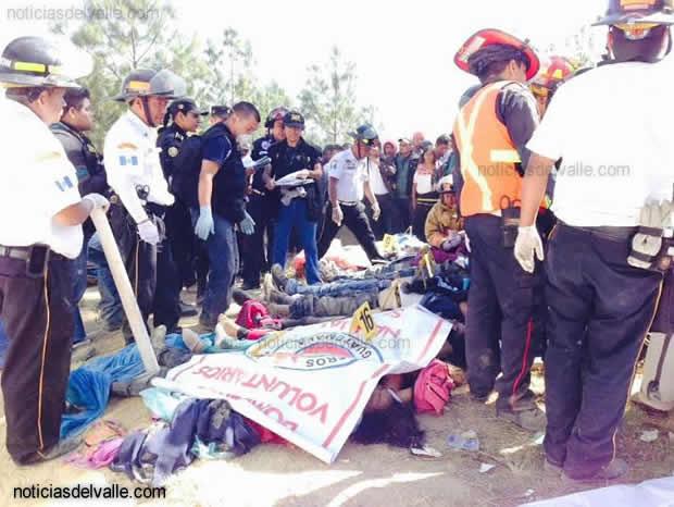 Identifican a primeras victimas de accidente de las ruta Tacaná en el departamento de Sololá