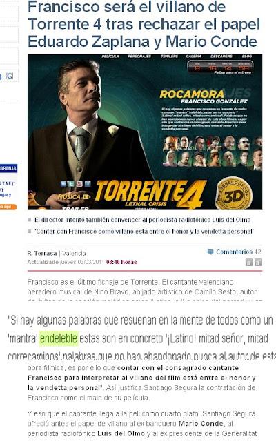 Francisco será el villano de Torrente 4