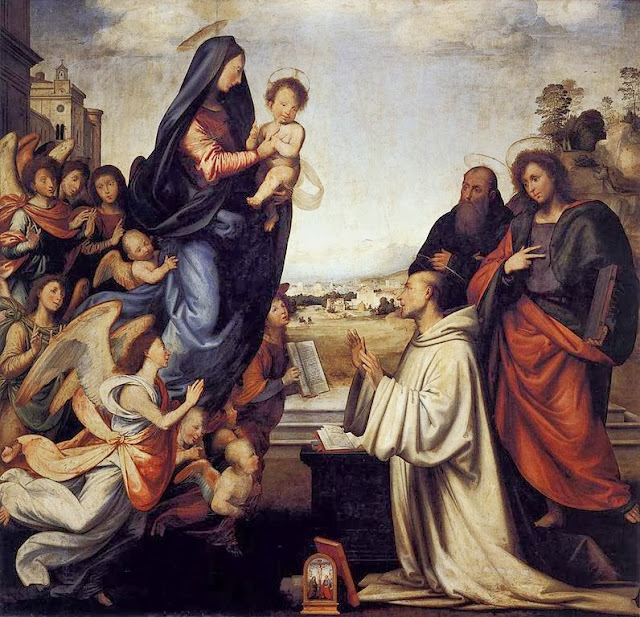 Fra Bartolomeo - The Vision of St. Bernard ca 1504 (Uffizi)