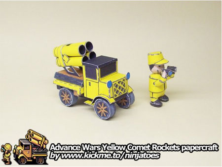 Advance Wars Papercraft Yellow Comet Rockets and Missiles