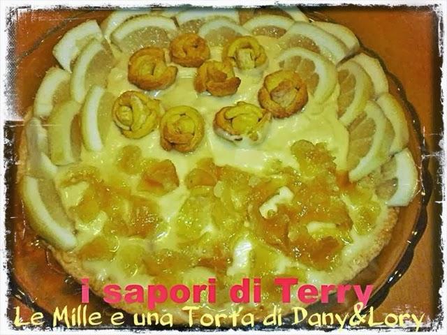 delizia al limone farcita con crema e limoni caramellati