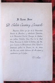 Dedicatoria a Julián Casaña y Leonardo