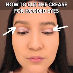 how to cut the crease for hooded eyes