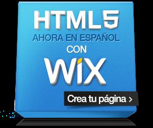 Wix - Crear página web gratis HTML5