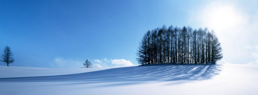 Winter scenery facebook cover