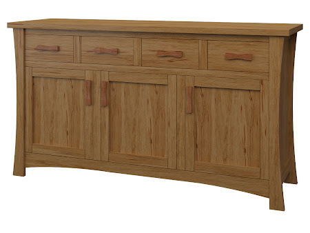 Zen Credenza in Classical Maple