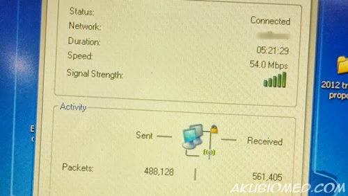 selepas memasang wifi extender