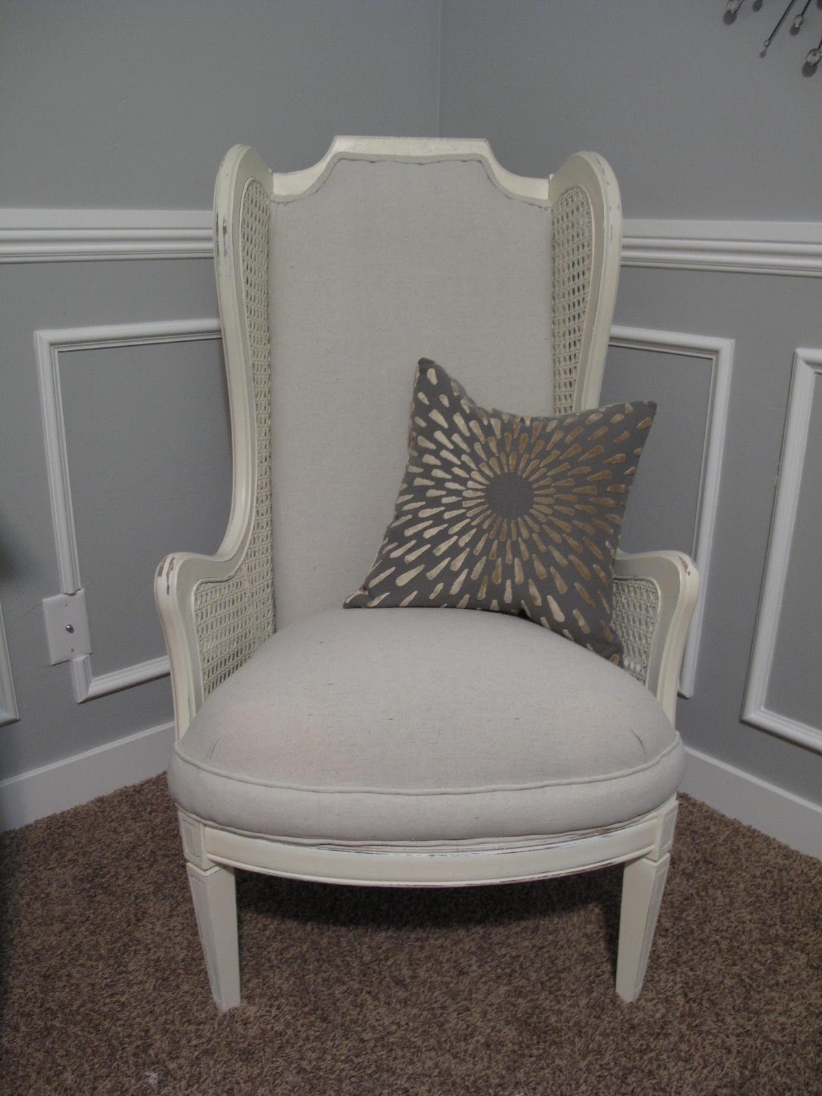 & Little Miss Penny Wenny: How to Re-upholster with a Drop Cloth- Part 1