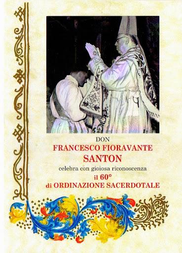 60° anniversario dell'ordinazione di don Francesco Santon