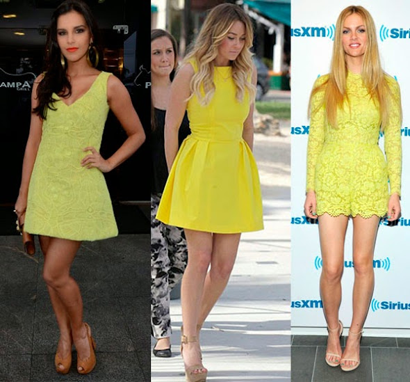Imagens de vestido amarelo curto
