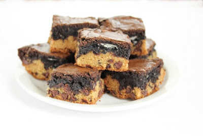 photo of a plate of cookies bars